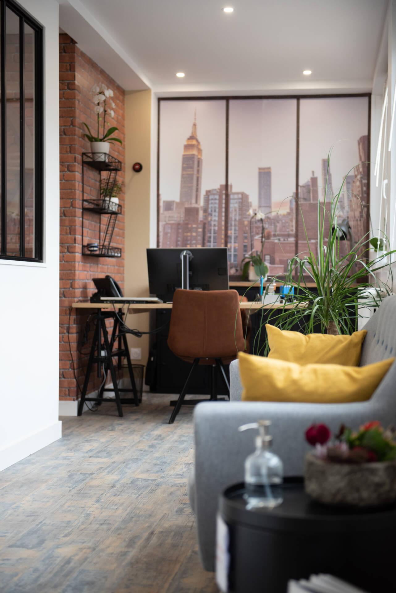 Renovation agence immobiliere - panoramique Brooklyn, par Happy Décoration, Cécile Nantillet, Décoratrice d'Intérieur à Besançon, Doubs 25
