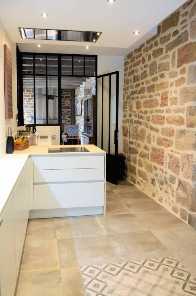 Rénovation de chateau à Vaux les Prés- cuisine verriere metal, par Happy Décoration, Cécile Nantillet, Décoratrice d'Intérieur à Besançon, Doubs 25