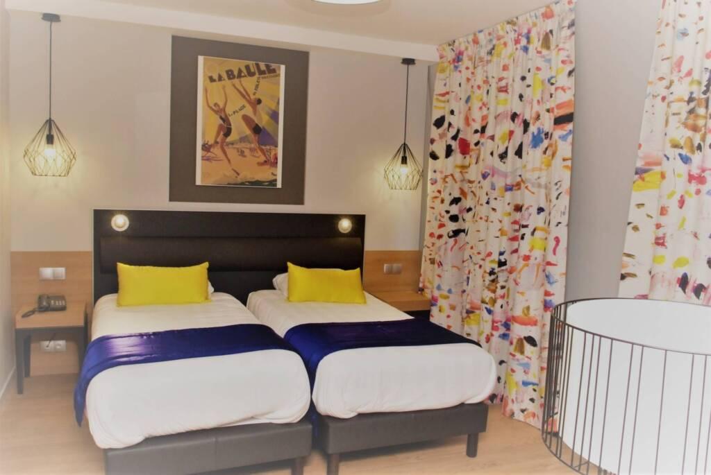 Renovation et décoration Hotel des Bains a Salins les Bains - chambre La Baule, par Happy Décoration, Cécile Nantillet, Décoratrice d'Intérieur à Besançon, Doubs 25